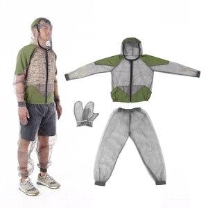 Image 1 - דוחה יתושים חיצוני חליפת באג מעיל רשת סלעית חליפות דיג ציד קמפינג מעיל חרקים מגן רשת חולצה כפפות
