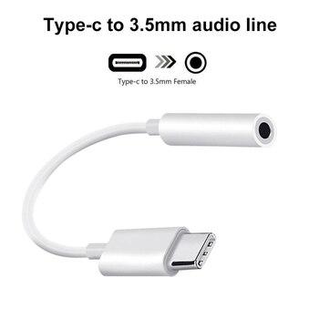 Cable adaptador de Audio tipo C a 3,5 MM Aux para Huawei Mate 30 Pro P40 Lite tipo c USB C a línea de Audio de 3,5mm