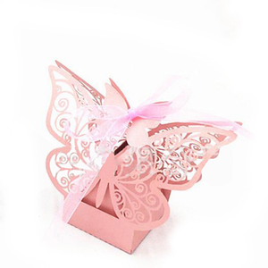 10pcs/bag Creative Butterfly Candy Box 55*45*43MM Favors Gifts Boxes Birthday Baby Shower Wedding Party Supplies Packaging