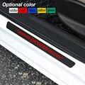 4 шт. декоративная Накладка на порог, наклейка на порог из углеродного волокна, автомобильные аксессуары для KIA picanto soul sorento k2 k5 flip