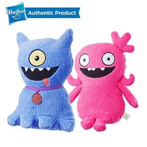 Hasbro brzydkie lalki funkcja brzmi OX wypchane pluszowe zabawki, które mówi 11 cali wysokości Moxy i brzydki pies garnitur dla dziecka grać UglyDoll