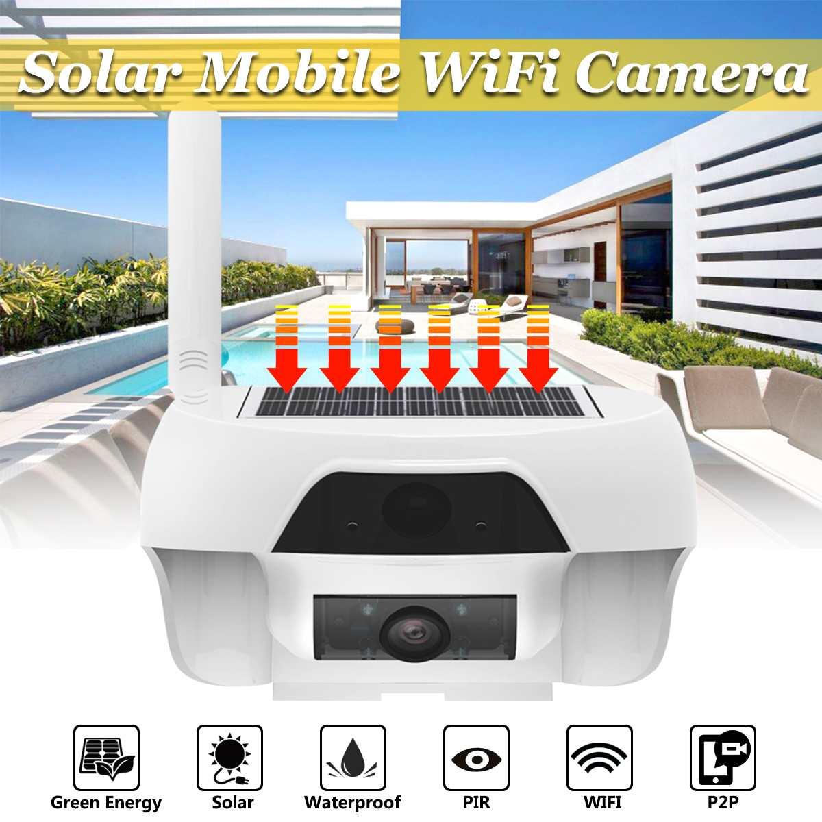 HD 720P Solar WiFi IR Bulllet Security IP Camera Outdoor P2P IR Night Vision Security Camera PIR Motion Detection CCTVs Camera