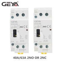 цена на GEYA GYHC 2P 40A 63A 2NO or 2NC Manual Household Modular DIN Rail AC Contactor  AC220V 230V Manual Control