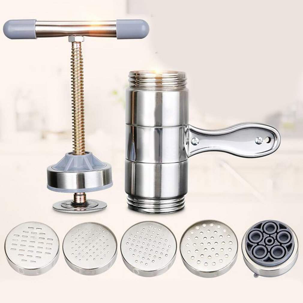Stainless Steel Manual Noodle Maker Kitchen Pasta Spaghetti Press Pates Machine Vegetable Fruit Juicer Pressing Machine