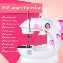 portable multifunction desktop mini electric sewing machine with light cutter small household appliances eat thick needle feed Sewing Machine Mini Sewing Machine Portable Small ABS Single Needle Electric Home Handheld Electric Sewing Machine