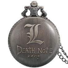 Watch-Chains Pocket-Watch Death Note Anime Necklace-Accessories Pendant Fobs Gifts Quartz