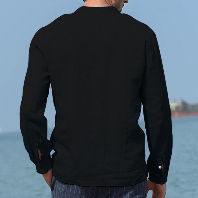 Baggy Long Sleeve Casual Shirt for Men