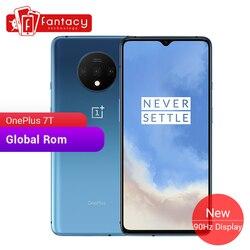 Global rom oneplus 7 t 8 gb 128 gb smartphone snapdragon 855 mais octa núcleo 90 hz amoled tela 48mp triplo câmeras ufs 3.0 nfc