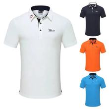 T-Shirts Golf-Clothing Jerseys Tops Outdoor-Sports Short-Sleeved Summer New And Men Quick-Drying