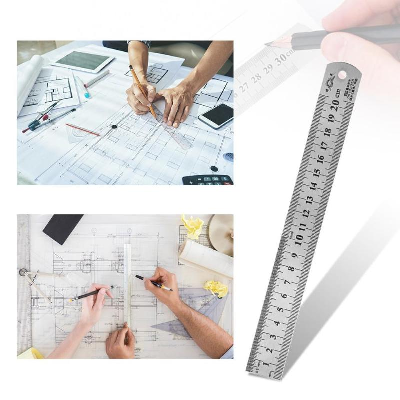 Sewing Foot Sewing Stainless Steel Metal Straight Ruler Ruler Tool Precision Double Sided Measuring Tool For Drop Shipping