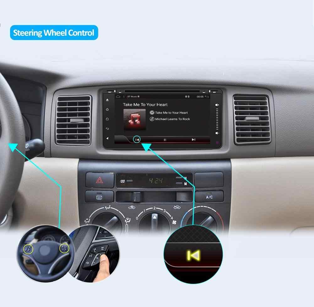 2 din オクタコア車の dvd アンドロイド 9.0 二重喧騒 gps ナビゲーション wifi usb + bluetooth + ラジオハイラックスカムリカローラ RAV4