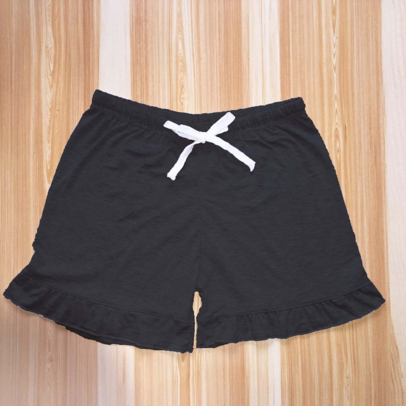 Women Black Loose Lace Version The Thin Solid Color Cotton Workout Shorts Women Summer Thin Section Leisure ShortPants