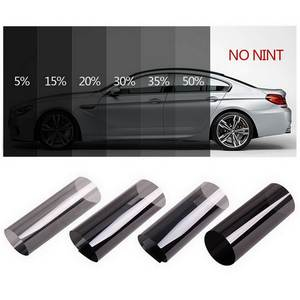 Car-Window-Tint-Film Solar-Protection Home-Glass Auto Dark-Black Summer for with Scraper