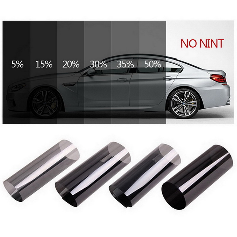 Darkรถสีดำม้วนฟิล์มกระจกรถยนต์อัตโนมัติพลังงานแสงอาทิตย์ฤดูร้อนสำหรับรถด้านข้างหน้าต่างHome...