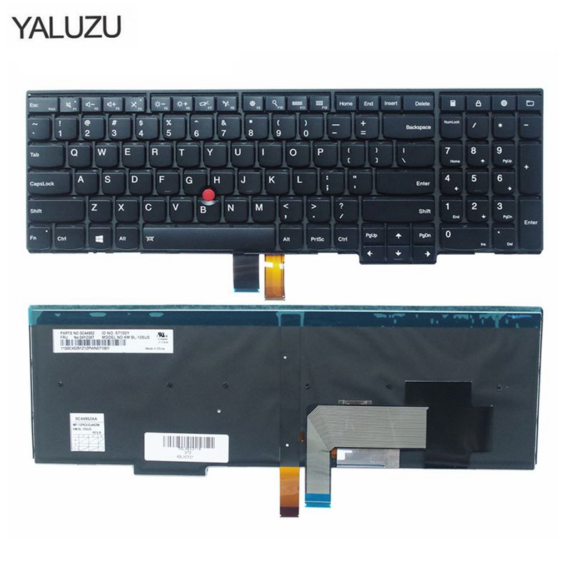 new for Lenovo for Thinkpad E531 E540 W540 T540P backlit laptop keyboard US image