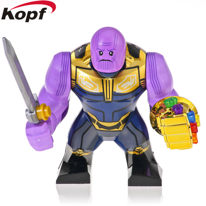 Building Blocks Avengers 4 Endgame Brick Thanos With Chromed Infinity Gauntlet Action Figures For Children Collection Toys KF891 image