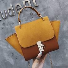 Fashion Trapeze Matte PU Leather Handbags for Women Designer Chains Shoulder Bag Luxury Pu Crossbody Large Totes Lady Purses