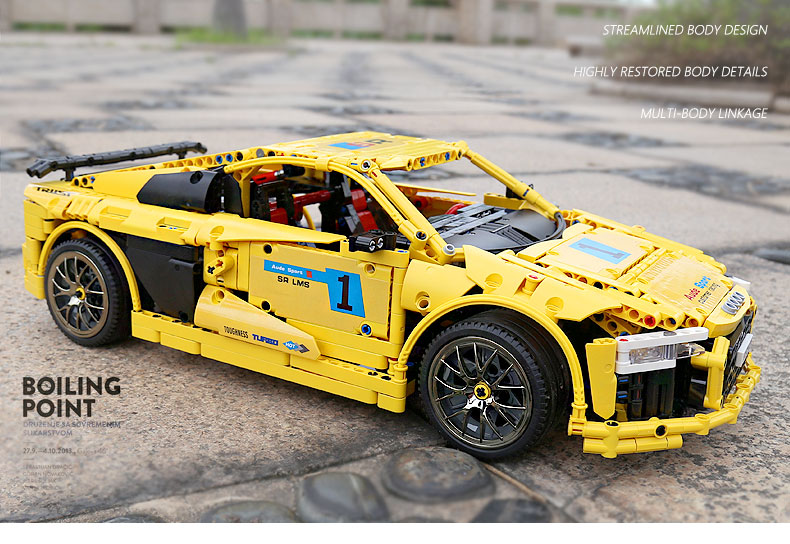 MOULD KING Compatible 13127 MOC-4463  Audis R8 V10 Speed RS5 Car Building Block (1896PCS) 9