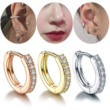 1Pc Koper Neus Ring Goth Punk Lip Oor Neus Clip Op Fake Septum Piercing Neus Ring Hoop Lip Hoop ringen Oorbellen Voor Wommen(China)
