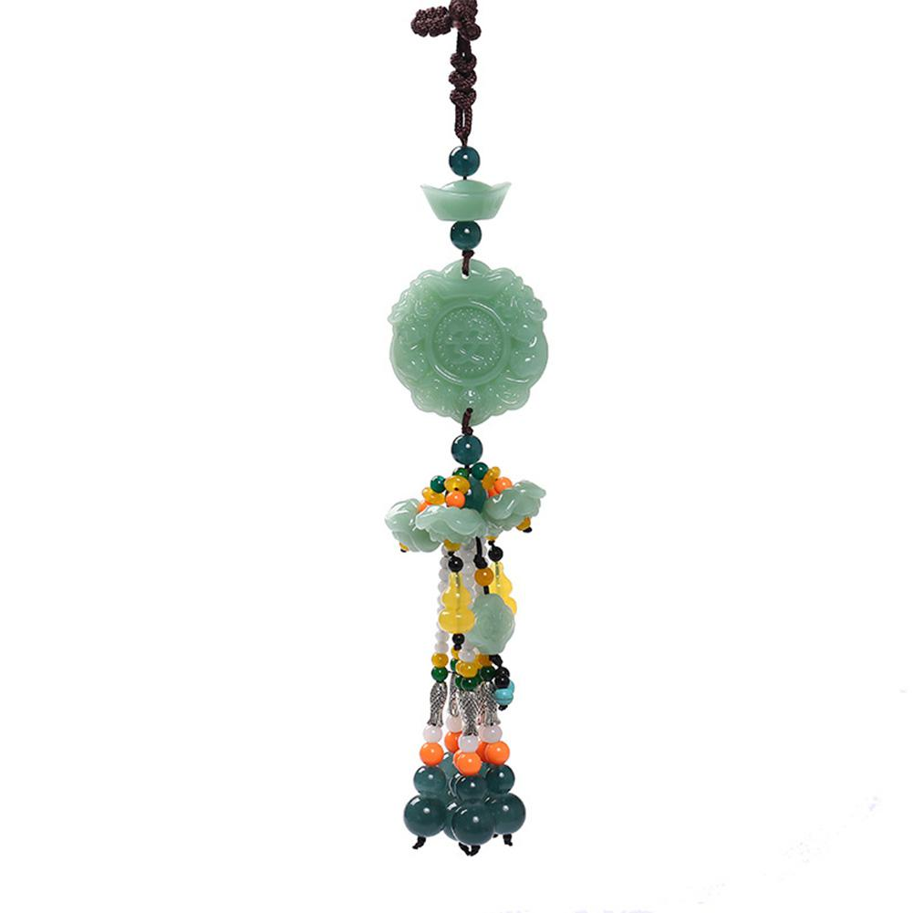 Car Pendant Jade Gourd Auto Hanging Ornaments Originality Blessing Decoration Rearview Mirror Car Interior Accessories-in Ornaments from Automobiles & Motorcycles