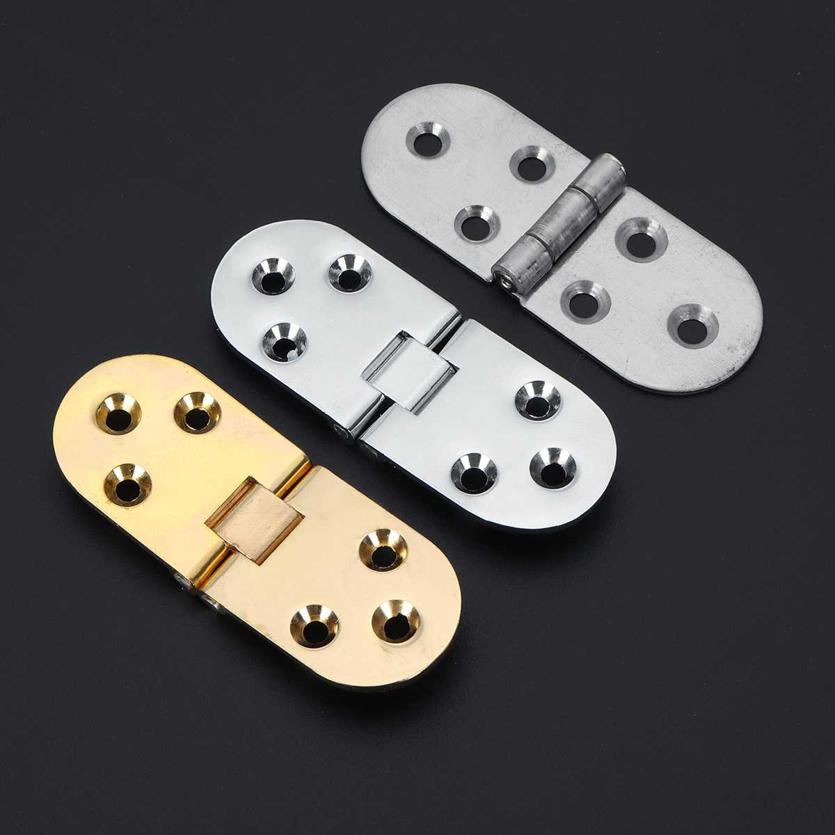 Zinc Alloy Alloy Metal Hinge Round Edge Sewing Machine Folding Table Cabinet Furniture Flip Tray Hinges Big Door Hinge 80mmx30mm