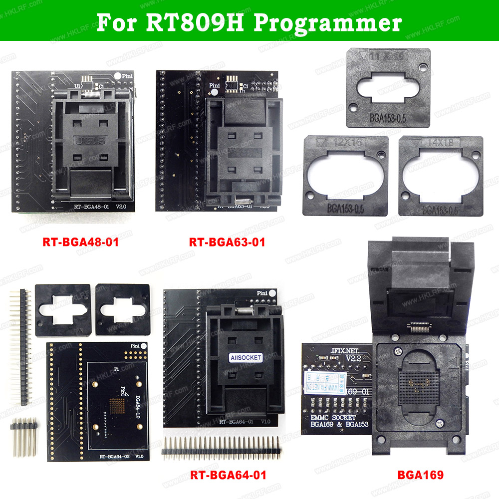Programmer-Adapter-Socket Flash-Programmer BGA48 Nand BGA169-01 RT809H BGA63 for EMCC title=