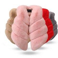 Детский жилет из искусственного меха для девочек; сезон осень-зима; модный толстый теплый разноцветный жилет; детская верхняя одежда; Рождественская одежда для маленьких девочек