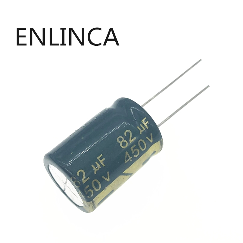 2pcs/lot 450v 82uf 450v82UF High Frequency Low ESR Aluminum Electrolytic Capacitor Size 18*25MM Tolerance 20% 20%