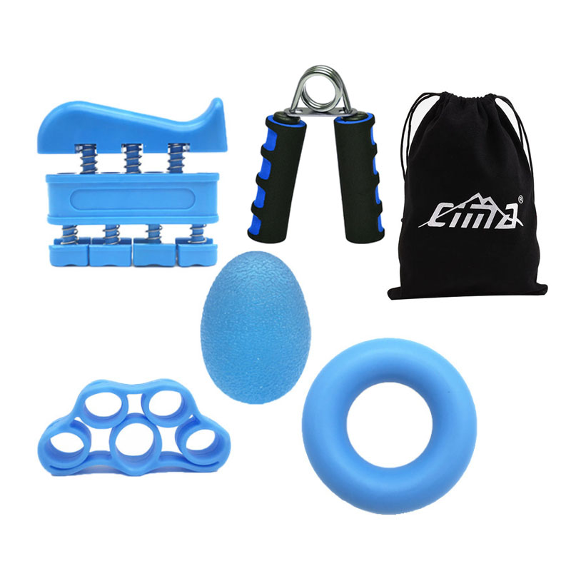 Hand Grip Strengthener Workout Kit Fitness Forearm Hand Gripper Therapy Ring Finger Exerciser Band For Rehabilitation Gym Tool