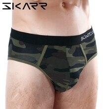 SKARR Briefs Men Underpants Cotton Underwear Men's Panties For Men Bikini Gay Se