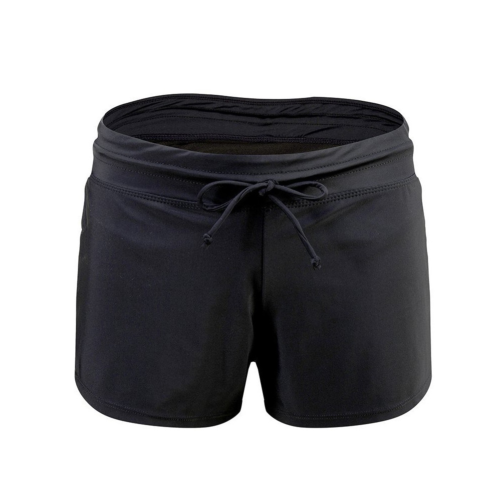 2019 WOMEN'S Swimsuit Wholesale Solid Color Conservative Swimming Trunks Amazon Hot Selling Large Size Anti-Exposure Hot Selling