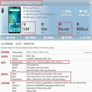 Image 2 - Voor Xiao mi mi A2 lite LCD SCHERM + Frame 10 Touch screen Voor Xiao Mi Rode mi 6 Pro display mi A2 LITE Lcd VERVANGENDE Onderdelen