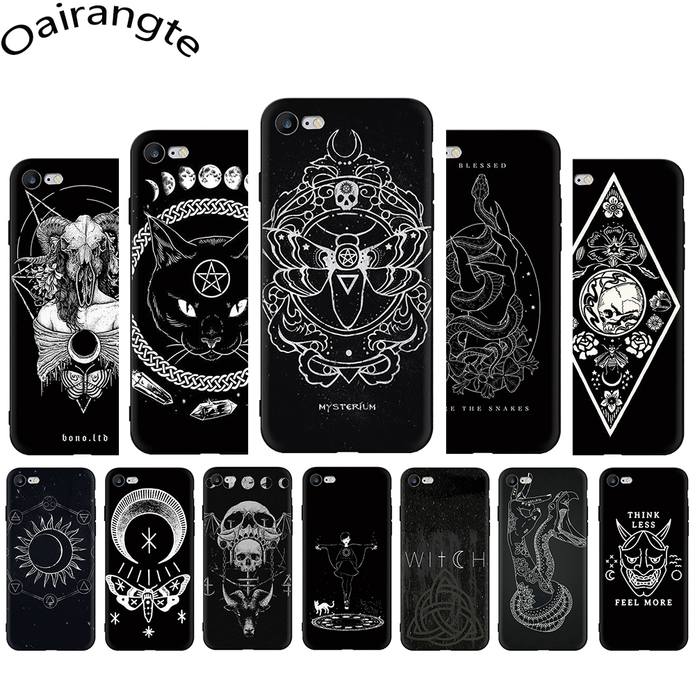 Mysterium gothic fantasy artprint Silicopne Phone Cover Case For iPhone 5 5S SE 2020 6 6S Plus 7 8 Plus X XS XR XS 11 Pro Max