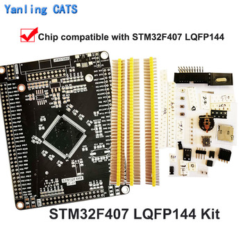 STM32F4 Discovery Board Arm Cortex M4 for DIY Welding STM32F407 417 LQFP144 Pin MCU for SWD Jtag Download 1PCS ZL-07 stm32f103zet6 development board discovery stm32 arm cortex m3 lqfp144 pin mcu controller system core board 1pcs zl 04
