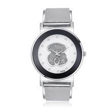 цены Relogios Femininos 2019 New Luxury Brand Bear Fashion Diamond Quartz Watches Chasy Women Stainless Steel Dress Watch reloj mujer