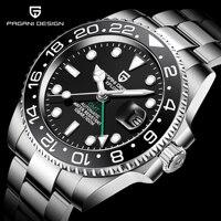 PAGANI DESIGN Brand Sapphire Glass Automatic Watch reloj hombre Luxury Men Mechanical Wristwatch Stainless Steel GMT Watch Men
