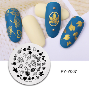 Image 3 - PICT YOU Nail Stamping Plates Flower Rectangle Stainless Steel Nail Image Stencils Stamping Template