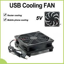 Ventilador de refrigeración M5TB de 9cm/12cm, fuente de alimentación USB de 5V CC, ventilador silencioso para enrutador, decodificador de TV, refrigerador del radiador, piezas de reparación DIY