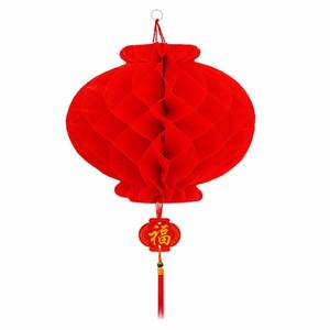 Big Red Honeycomb Hanging Lantern Thickened Wedding Party Birthday Decoration Spring Festival Christmas Ornament for Sales
