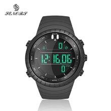 Senors elektroniczny cyfrowy zegarek męski Led wodoodporna Sport zegarka mody zegarek na co dzień sporty nurkowe zegarek