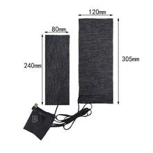 Pads Heating-Warmer-Pad Fast-Heating Cloth Carbon-Fiber USB Safe for Vest Shoes 2PCS
