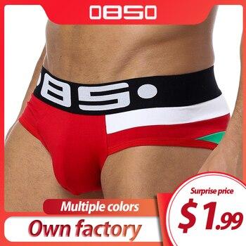 Brand Men Underwear Sexy Briefs Breathable Mens Slip Cueca Male Panties Underpants 5 colors B113 - discount item  21% OFF Men's Underwears