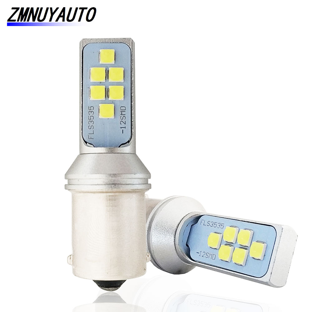 2PCS P21W <font><b>Led</b></font> 1156 <font><b>BA15S</b></font> <font><b>Led</b></font> <font><b>R5W</b></font> Bulb Car Turn Signal Lamp Brake Reverse Tail Light Auto Bulbs <font><b>12V</b></font> 24V White Amber Red image