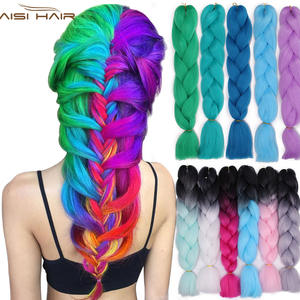 Hair-Extensions Braiding Crochet Jumbo Ombre American Kanekalon Women's for Multiple-Tones