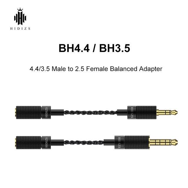 HIDIZS BH4.4 BH3.5 4.4/3.5 mâle à 2.5 femelle adaptateur équilibré pour de 4.4/3.5mm interface Audio sortie et 2.5mm interface IEM