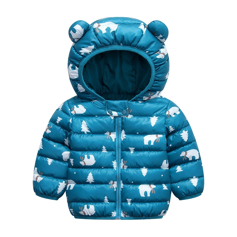 infant boy winter Warm clothes kids baby girls hooded coat Cartoon costume 2020 fashion children Outerwear Clothing cottons 0-5Y 6