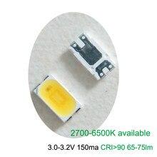 100 pces seoul seul 5630 smd led 3v 150ma cri 90 + 135lm/w 2700k a 6000k disponível
