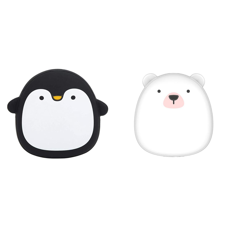 Hand-Warmer Power-Bank Mini Rechargeable Cartoon Cute Dual-Purpose 4000mah USB