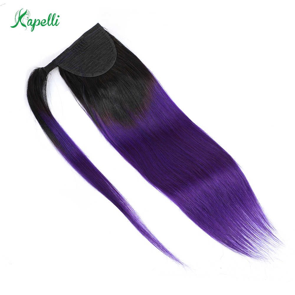 Long Straight Wrap Ponytail Human Hair Ponytail With Clip in Extensions For Women Brazilian Remy Pony Tail Hair Piece 70 to 120g