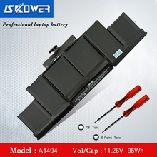A1398 Battery For Apple MacBook Pro 15 inch Retina A1398 ( Late 2013 Mid 2014) A1494 Battery 10.26V/ 95WH a1398 99